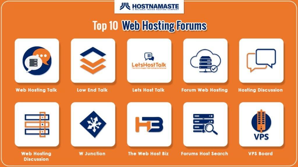 Top 10 Web Hosting Forums HostNamaste