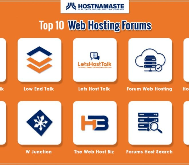 Top 10 Web Hosting Forums - HostNamaste