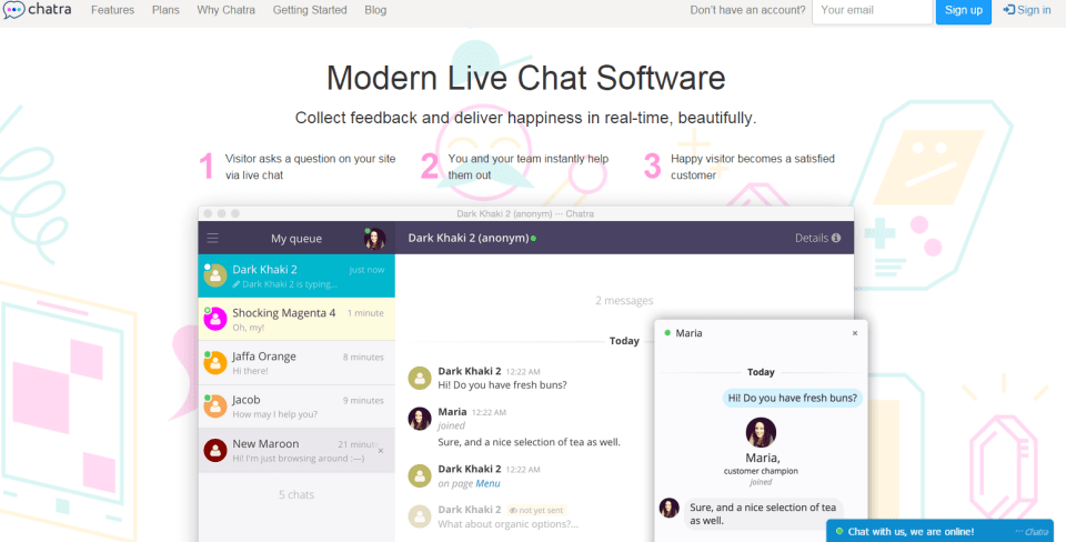Chatra - Top 10 Free Live Chat Softwares for Hosting Providers - HostNamaste