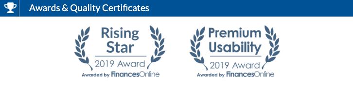 HostNamaste has Awarded Two 2019 Rising Star and Premium Usability Awards at FinancesOnline.com