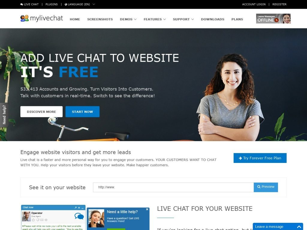 MyLiveChat - Top 10 Free Live Chat Softwares for Hosting Providers - HostNamaste