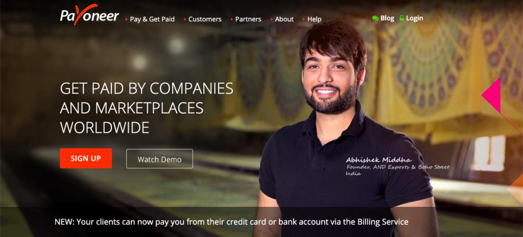 Payoneer - Top 10 Payment Gateways for Hosting Providers - HostNamaste