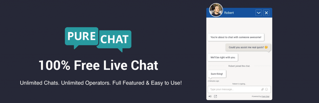 PureChat - Top 10 Free Live Chat Softwares for Hosting Providers - HostNamaste