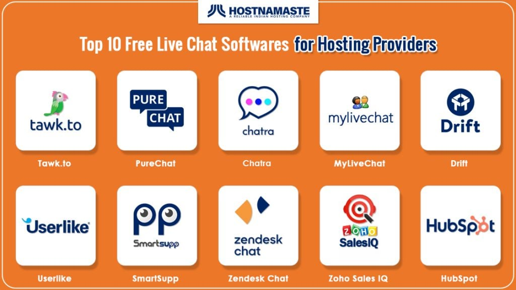 Top 10 Free Live Chat Softwares for Hosting Providers - HostNamaste
