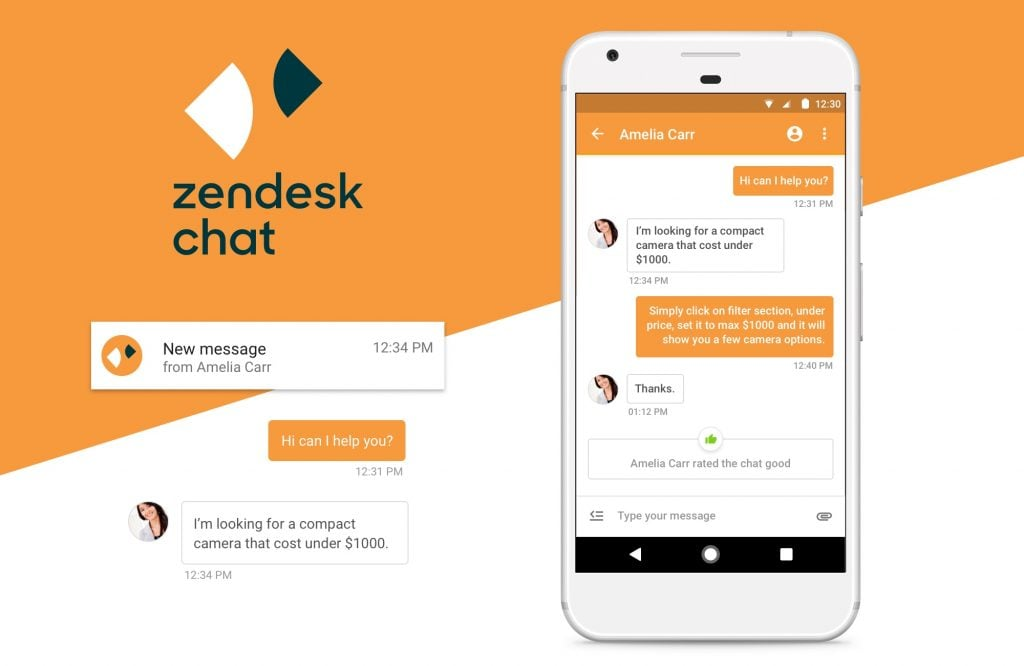 Zendesk Chat - Top 10 Free Live Chat Softwares for Hosting Providers - HostNamaste