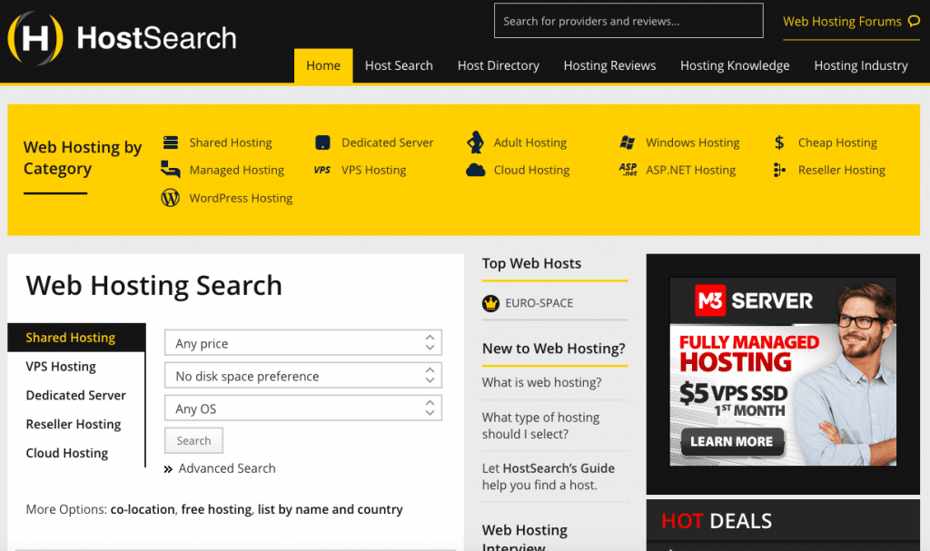 HostSearch - Top 10 Web Hosting Review Sites - HostNamaste