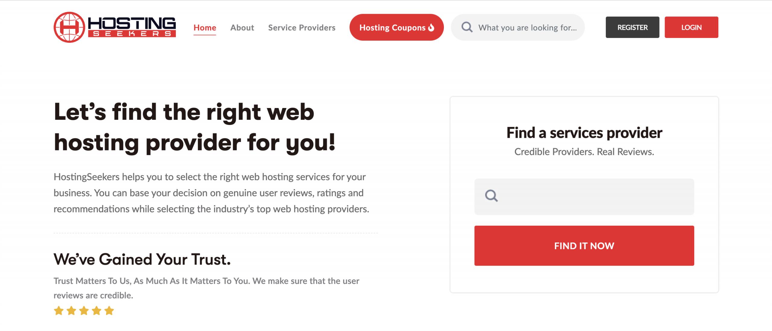 HostingSeekers - Top 10 Web Hosting Review Sites - HostNamaste