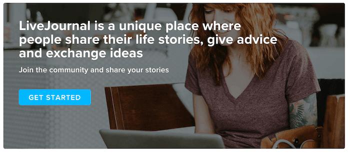 Livejournal - Top 10 Free Blogging Platformsto Start a Blog - HostNamaste
