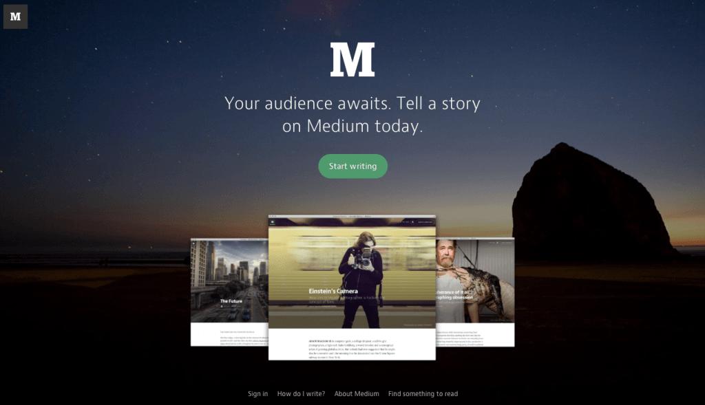 Medium - Top 10 Free Blogging Platformsto Start a Blog - HostNamaste