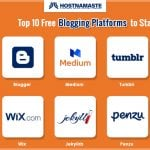Top 10 Free Blogging Platforms to Start a Blog - HostNamaste