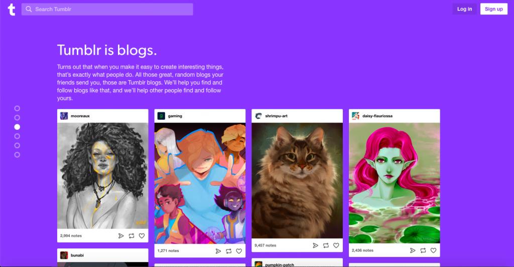 Tumblr - Top 10 Free Blogging Platformsto Start a Blog - HostNamaste