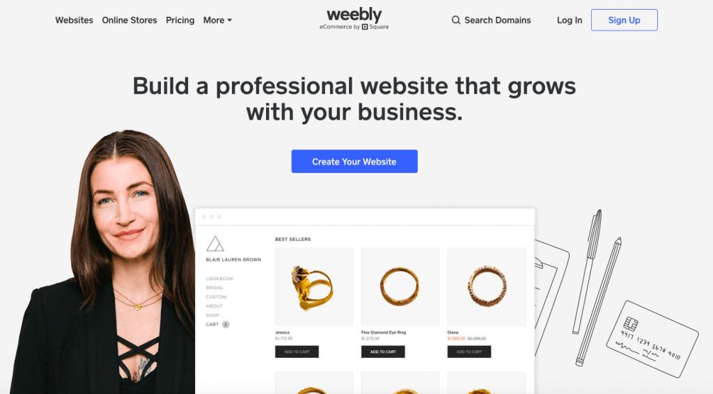 Weebly - Top 10 Free Blogging Platformsto Start a Blog - HostNamaste