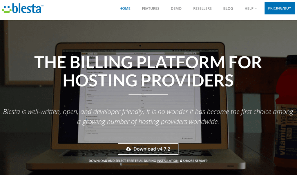 Blesta - Top 10 Web Hosting Billing Softwares and Automation Platforms for Web Hosting Providers - HostNamaste