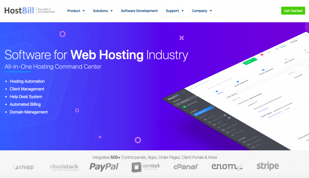 HostBill - Top 10 Web Hosting Billing Softwares and Automation Platforms for Web Hosting Providers - HostNamaste