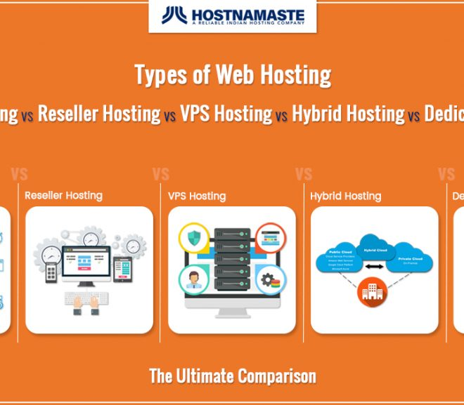 Types of Web Hosting – Shared Hosting VS Reseller Hosting VS VPS Hosting VS Hybrid Hosting VS Dedicated Hosting – The Ultimate Comparison