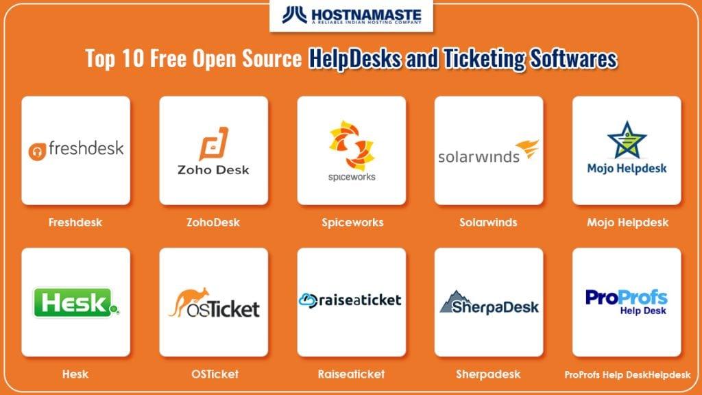 Top 10 Free Open Source HelpDesks and Ticketing Softwares - HostNamaste