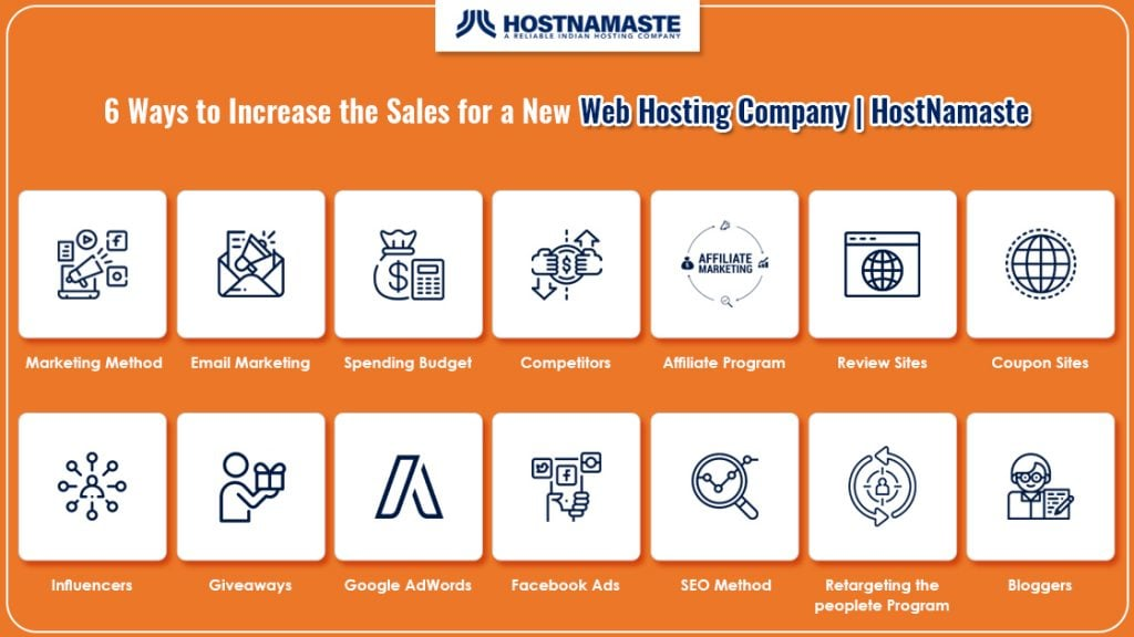 6 Ways to Increase the Sales for a New Web Hosting Company - HostNamaste