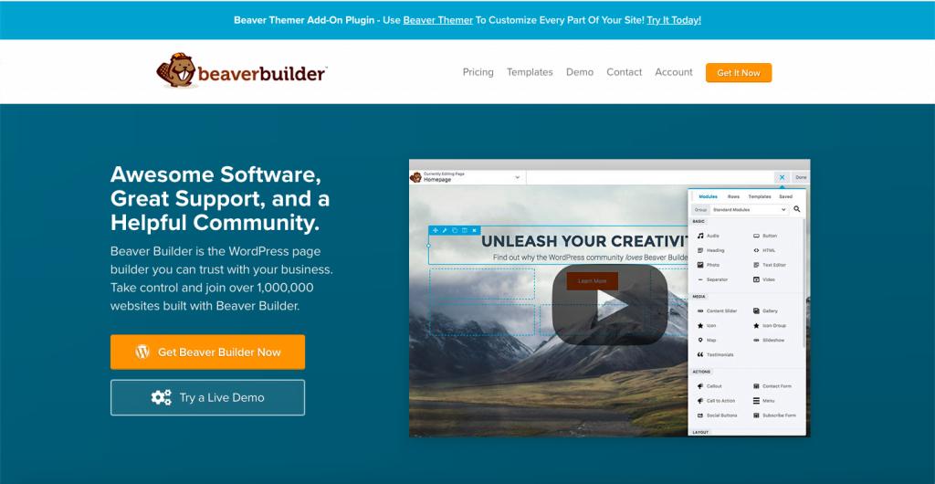Beaver Builder - The Top 10 WordPress Plugins for Your Blog - HostNamaste
