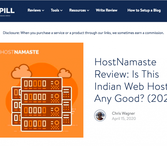HostNamaste Featured On HostingPill.com – Is This Indian Web Host Any Good? (2020)
