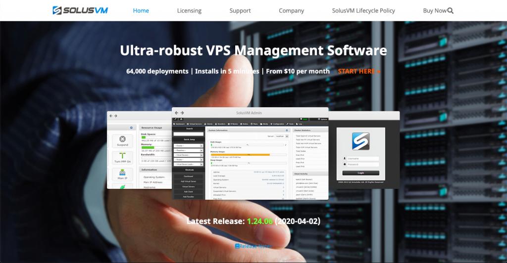SolusVM - Top 10 Server Virtualization VPS Management Softwares and Control Panels - HostNamaste