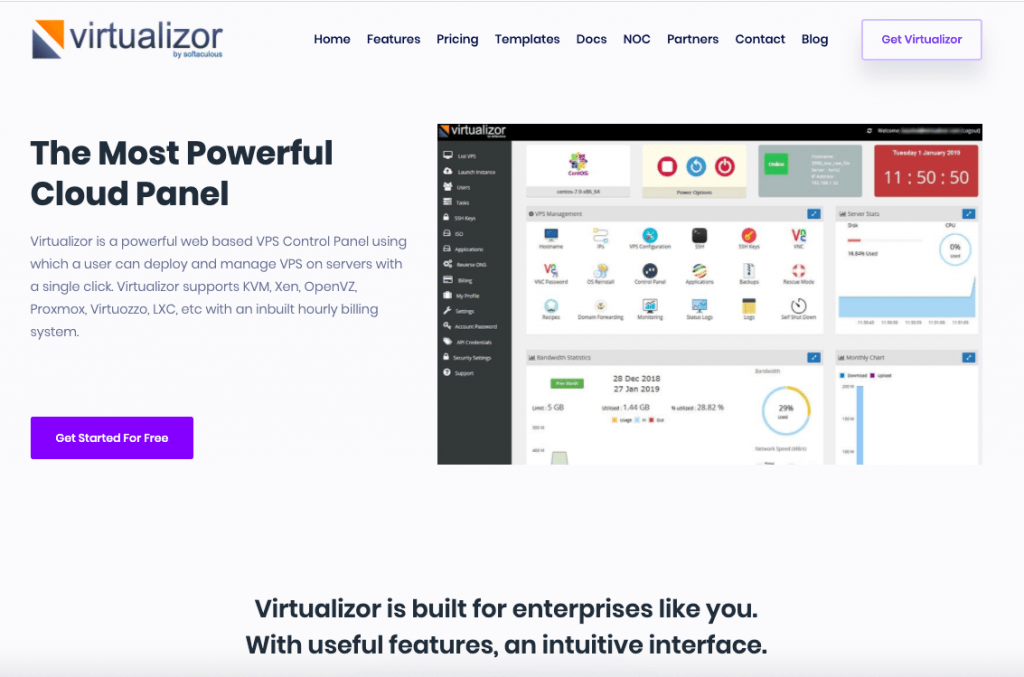 Virtualizor - Top 10 Server Virtualization VPS Management Softwares and Control Panels - HostNamaste
