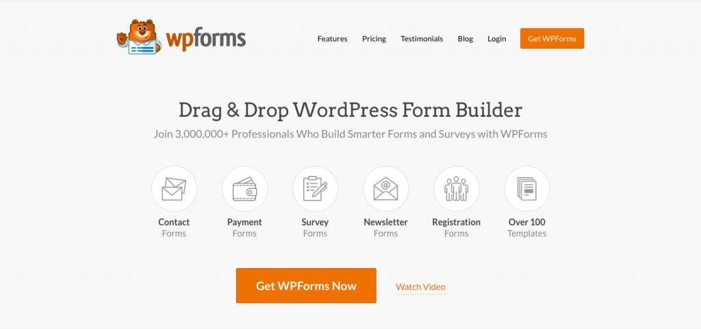WPForms - The Top 10 WordPress Plugins for Your Blog - HostNamaste