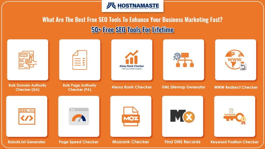 What Are The Best Free SEO Tools To Enhance Your Business Marketing Fast? 50+ Free SEO Tools For Lifetime - HostNamaste