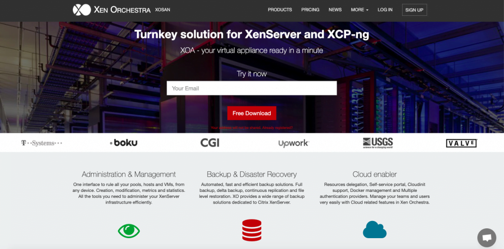 Xen Orchestra - Top 10 Server Virtualization VPS Management Softwares and Control Panels