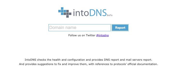 IntoDNS - Top 10 DNS Monitoring Tools Checker LookUp and Propagation Tools - HostNamaste