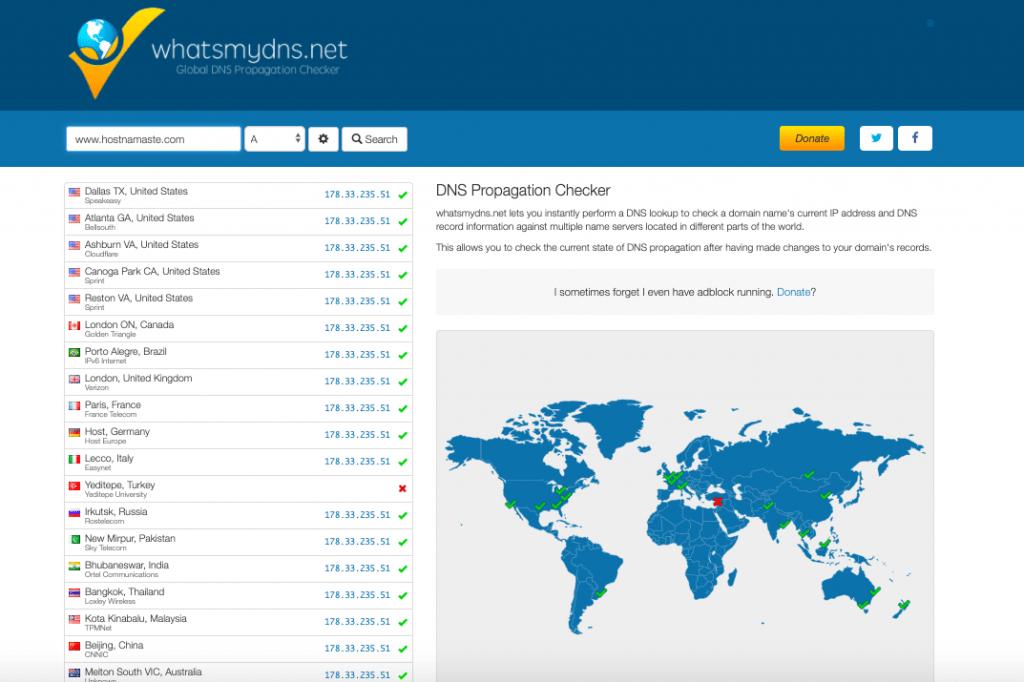 WhatsMyDNS – Top 10 DNS Monitoring Tools Checker LookUp and Propagation Tools – HostNamaste