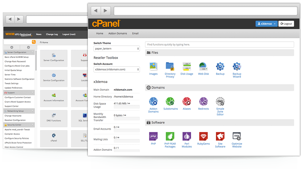cPanel-WHM- Top 5 Paid Web Hosting Control Panels to Manage VPS and Dedicated Servers - HostNamaste