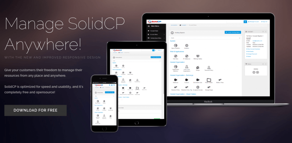 SolidCP - Top 5 Free Windows Open Source Web Hosting Control Panels - HostNamaste