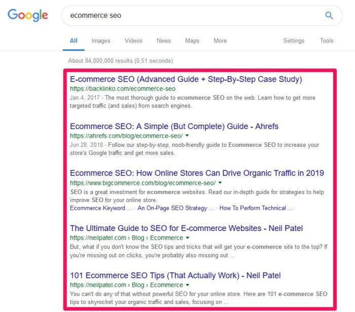 Find your competitors ranking URLs - HostNamaste