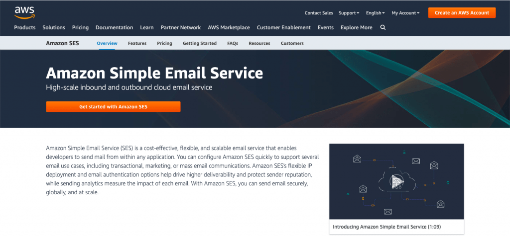 Amazon SES - Top 10 Best Transactional Email Service To Take Your Customer Engagement to the Next Level – SMTP Transactional Email Services Compared - HostNamaste