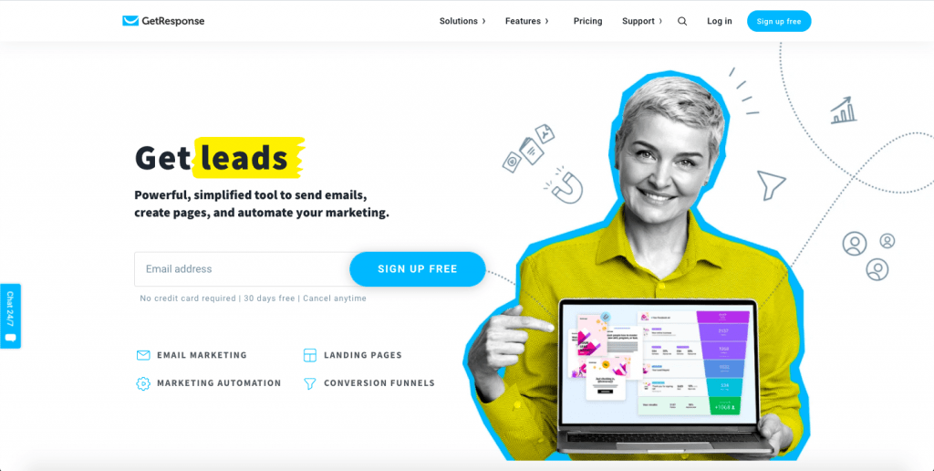 GetResponse - Top 10 Best Transactional Email Service To Take Your Customer Engagement to the Next Level – SMTP Transactional Email Services Compared – HostNamaste