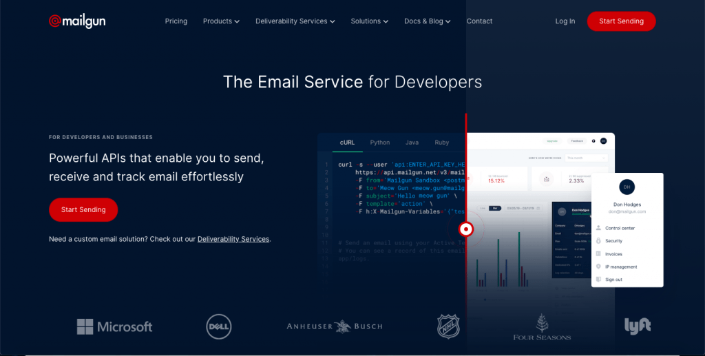 Mailgun - Top 10 Best Transactional Email Service To Take Your Customer Engagement to the Next Level – SMTP Transactional Email Services Compared – HostNamaste
