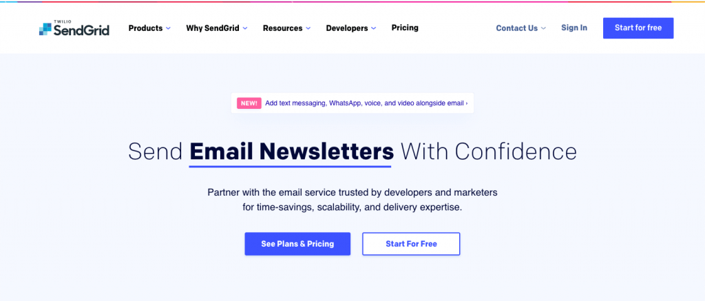 SendGrid - Top 10 Best Transactional Email Service To Take Your Customer Engagement to the Next Level – SMTP Transactional Email Services Compared - HostNamaste