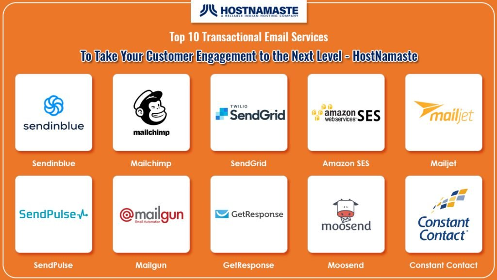 Top 10 Best Transactional Email Service To Take Your Customer Engagement to the Next Level – SMTP Transactional Email Services Compared - HostNamaste