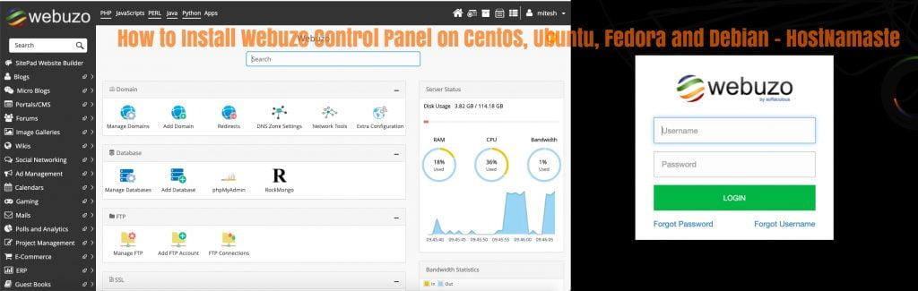 How to Install Webuzo Control Panel on CentOS, Ubuntu, Fedora, Debian and other Linux Distributions - HostNamaste