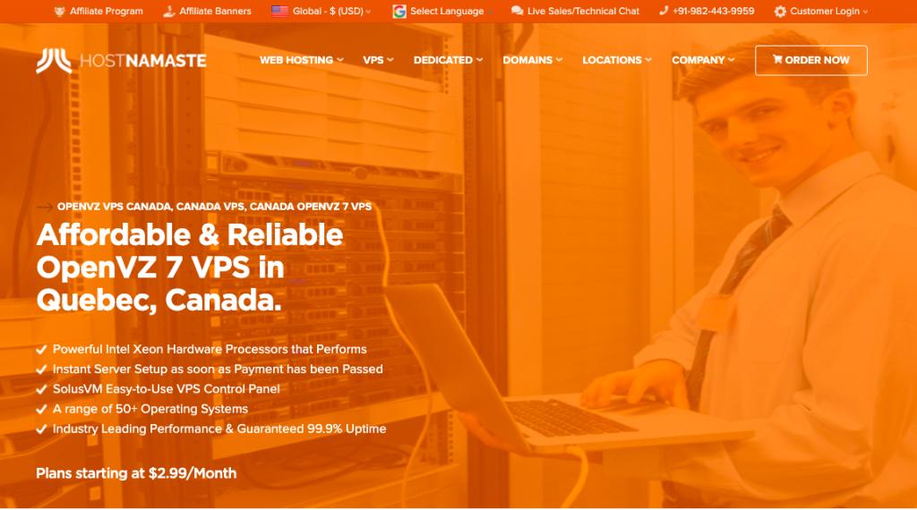 Launching Beauharnois, Quebec Canada Location OpenVZ 7 VPS - HostNamaste