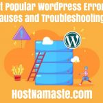 Most Popular WordPress Errors Their Causes and Troubleshooting Steps - HostNamaste