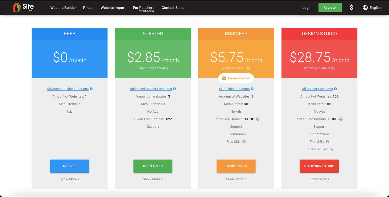Site.pro Website Builder - Free and Paid Plans - HostNamaste