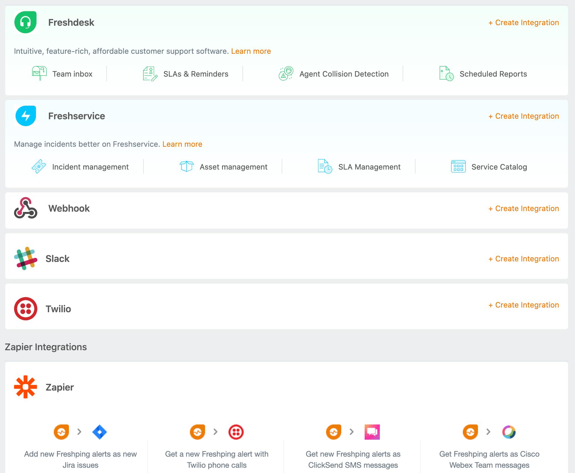 Integrations - Receive Instant alerts on the channels you prefer - Freshping - HostNamaste
