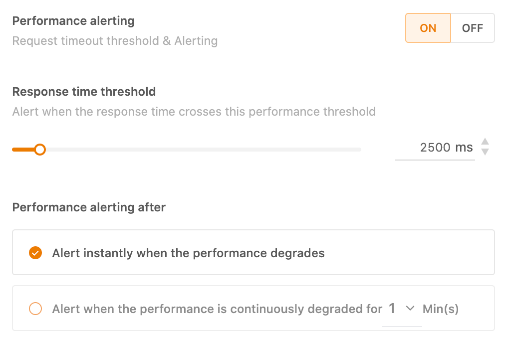 Performance alerting - Avoid getting penalized by Google - Freshping - HostNamaste