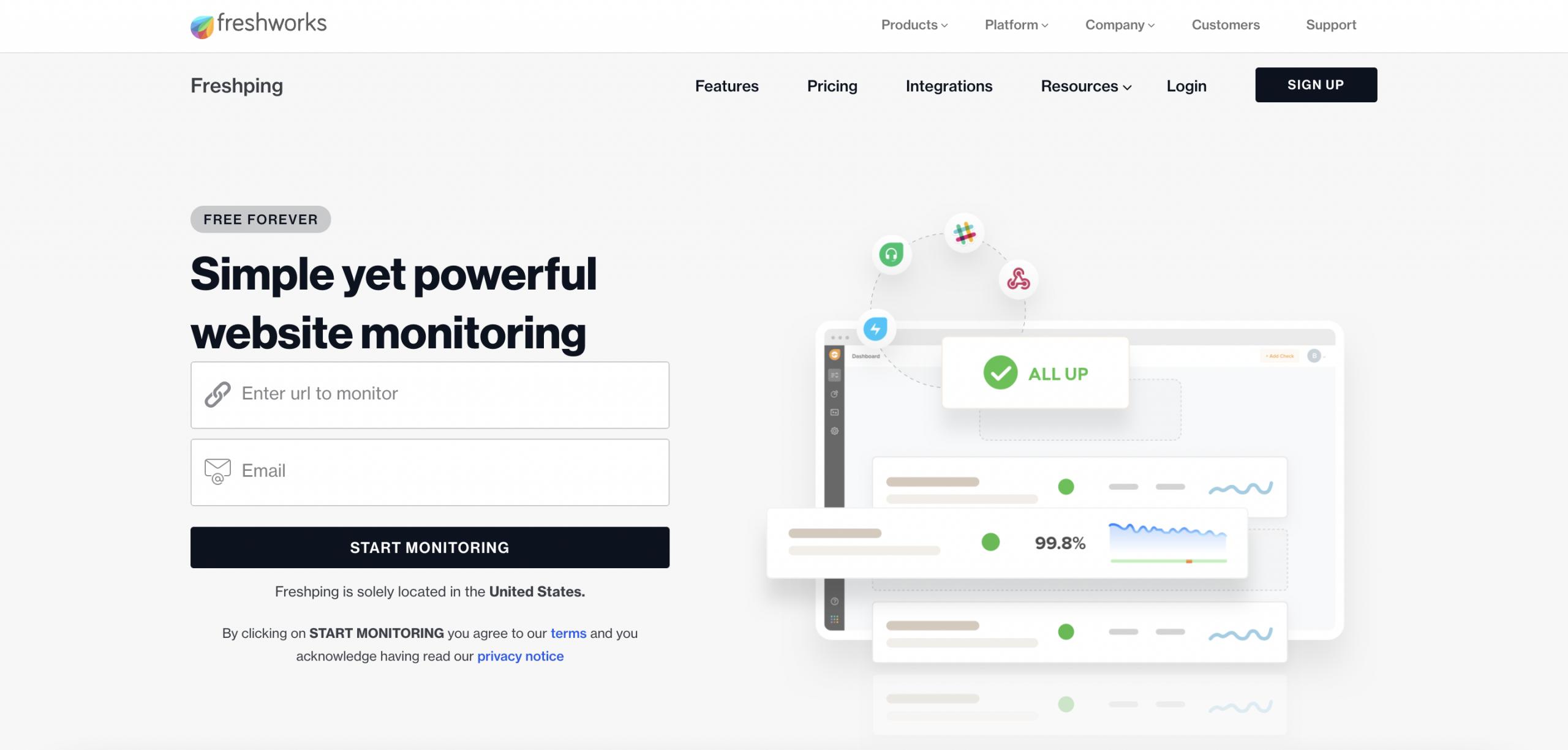 Freshping - Top 10 Best Website Monitoring Services of 2021 - HostNamaste