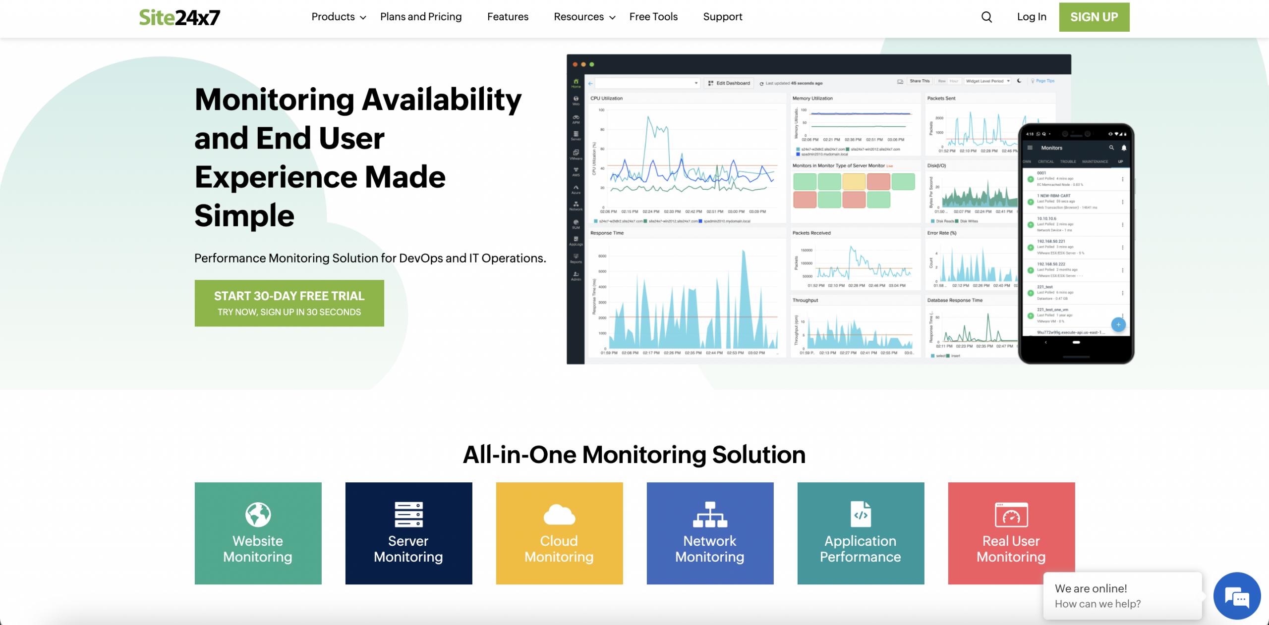 Site24x7 - Top 10 Best Website Monitoring Services of 2021 - HostNamaste